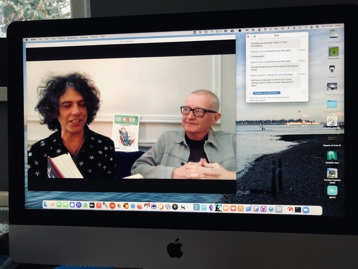 Zoom meeting screen with Kavus and Steve
