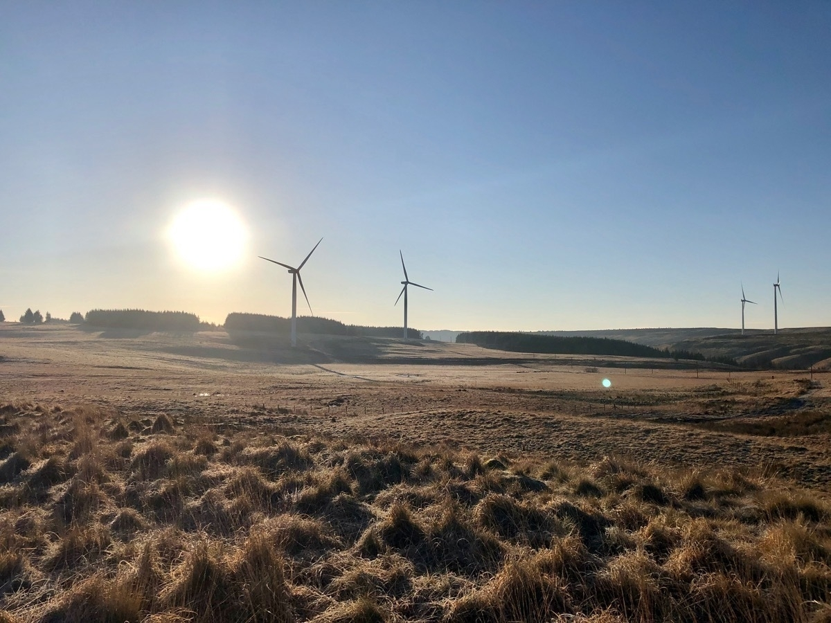 Wind turbines and the sun